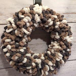 Handmade Yarn Wreath